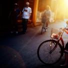 """""""Bicycle Girl"""" stock image"""