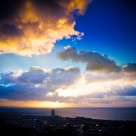 """Swansea Sunrise"" stock image"