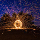 """Sparks will fly from the bubble"" stock image"
