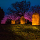 """Torch lit Gravestone"" stock image"