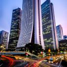 """""""traffic in Shinjuku financial district"""" stock image"""