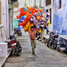 """THE BALLOON SELLER"" stock image"