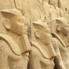 """Three Pharaohs At Karnak Temple, Egypt"" stock image"