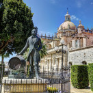 """Monument to Manuel Maria Gonzalez Angel, Jerez Spain"" stock image"