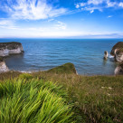 """Flamborough cliffs"" stock image"