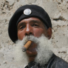 """Whiskers and Cigar"" stock image"