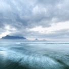 """Late winters morning over Cape Town's Table Mountain"" stock image"