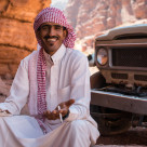 """Cheeky Bedouin"" stock image"
