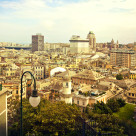 """Genoa - Italy, panorama of the city center"" stock image"