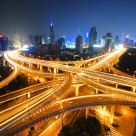 """""""Yan'an Middle (East) Crossing"""" stock image"""
