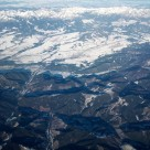 """Low and High Tatras from the air"" stock image"