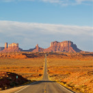 """""""Highway to Monument Valley"""" stock image"""