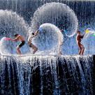 """Play Waterfall at Tukad unda - Bali"" stock image"