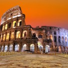 """Sunset in Rome."" stock image"