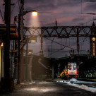 """Leaving Hoboken"" stock image"