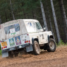 """Land Rover rally car"" stock image"