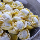 """Preparing homemade tortellini."" stock image"