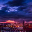 """Berlin at night"" stock image"