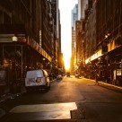 """Sunset at New York City"" stock image"
