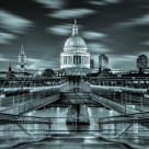 """St. Paul's Millennium Bridge"" stock image"