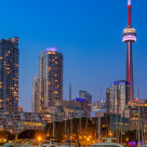 """Harbourfront Blue Hour"" stock image"