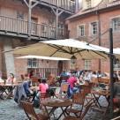 """""""Więzienna Pub beer garden"""" stock image"""