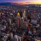 """Twilight over Manhattan"" stock image"