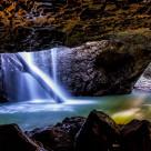 """Natural Bridge Waterfall Springbrook"" stock image"