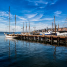 """""""Oslo Waterfront and Sailing Boat Norway"""" stock image"""