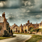 """English Village Life"" stock image"