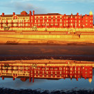 """Grand Metropole Hotel Blackpool Reflection"" stock image"