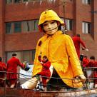 """""""Little Girl Giant"""" stock image"""