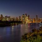 """""""Nightime Brisbane City"""" stock image"""