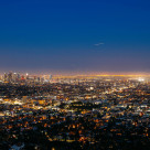 """Night of Los Angeles"" stock image"