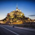 """""""Mont Saint Michel at dusk"""" stock image"""