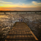 """Mersea sunset"" stock image"