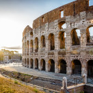 """Colosseum at sunset"" stock image"