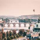 """Balloon over Prague"" stock image"
