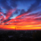 """Red sky"" stock image"