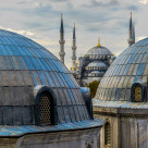 """VIEW FROM SOFI MOSQUE ISTANBUL"" stock image"