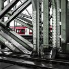 """Train in a bridge in Koln Germany"" stock image"