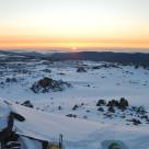"""Sunrise over the Snowy Mountains, Australia"" stock image"