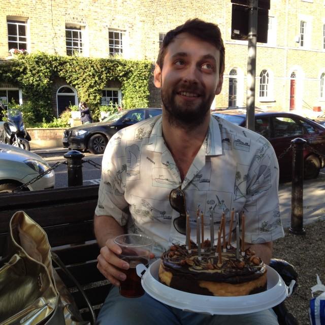 """""""Beardy cake guy"""" stock image"""