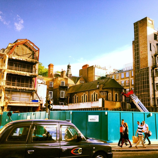 """Oxford Street Building Site"" stock image"