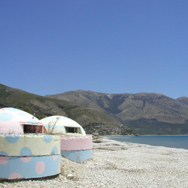 """""""Albanian disco bunkers"""" stock image"""