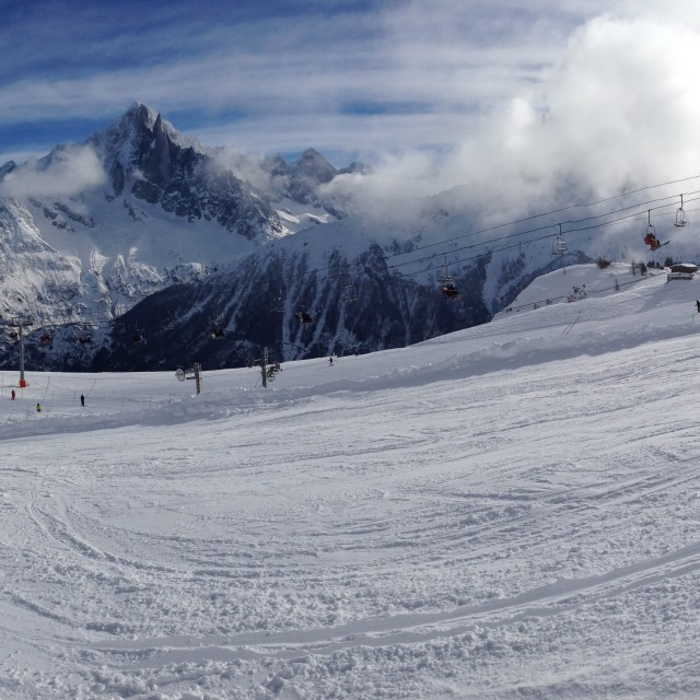 """Alps Panoramic"" stock image"