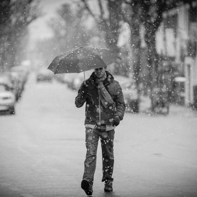 """""""Snowy Umbrella"""" stock image"""
