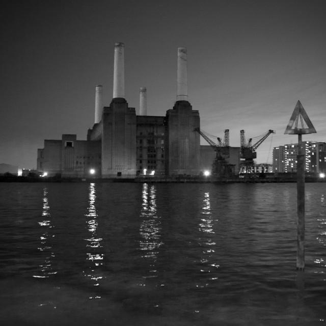"""""""Battersea (B&W)"""" stock image"""