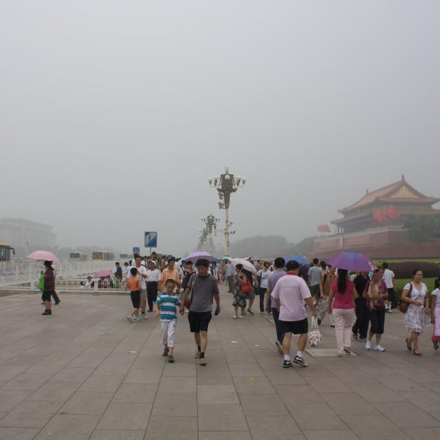 """Beijing smog"" stock image"