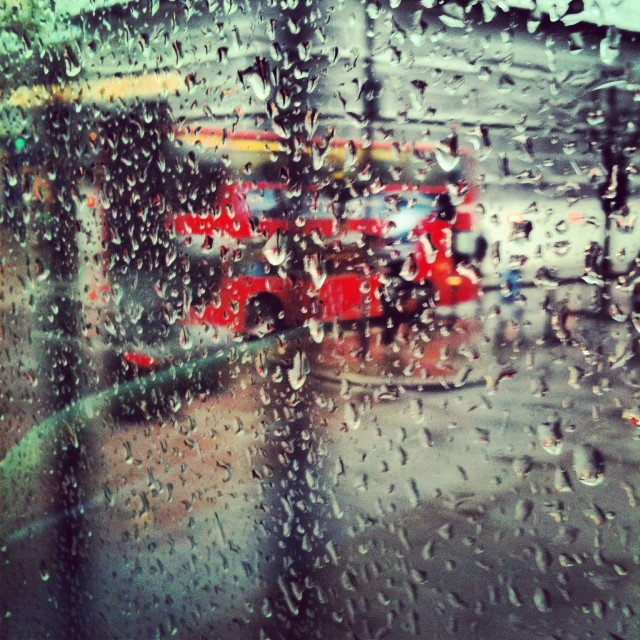 """London through glass"" stock image"